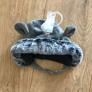 Fur Baby Hat - Super Soft Bear Beanie with Strap
